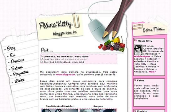 Vs. 05 Blogger Flávia Kitty - Agosto/2005